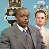 Police Chief Nate Harper, pictured with Mayor Luke Ravenstahl, has seen his relationship with the city's black community strained in recent years.