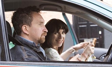 Poppy (Sally Hawkins) drives Scott (Eddie Marsan) round the bend.