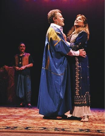 Power couple: Sam Tsoutsouvas and Helena Ruoti in PICT's Antony and Cleoptra. - PHOTO COURTESY OF SUELLEN FITZSIMMONS