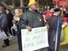 Protesting transit cuts