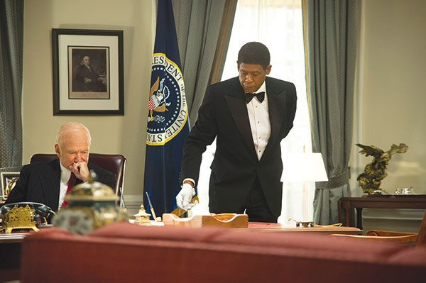 Proximate to power: Cecil Gaines (Forest Whitaker), right, delivers coffee to President Eisenhower (Robin Williams)