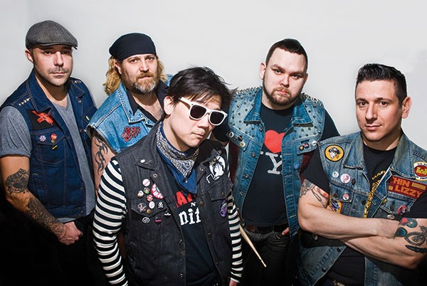 Punk state of mind: Thunder Vest (from left: Donovan Greenaway, Phil Irvin, Steve Chiang, Kevin Eaton, Steve Terzolino)