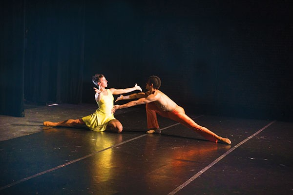 Rachel Malehorn and Alan Obuzor of Texture Contemporary Ballet.