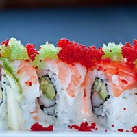 Kasai Rainbow roll with roe Photo by Heather Mull
