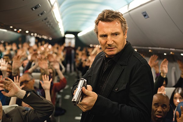 Raise your hand if you're the terrorist: Liam Neeson plays detective.