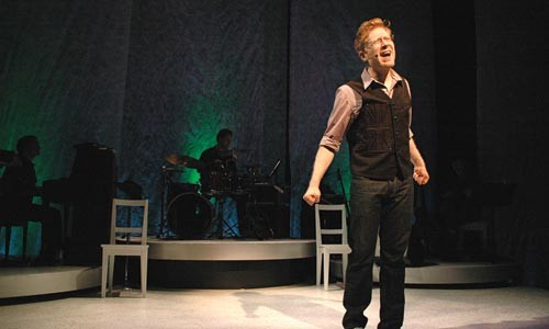 Rapp it up: Anthony Rapp in Without You at City Theatre. - PHOTO COURTESY OF SUELLEN FITZSIMMONS.