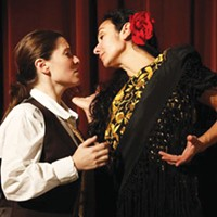 Raquel Winnica Young and Carolina Loyola-Garcia in Quantum Theatre's <i>Ainadamar</i>