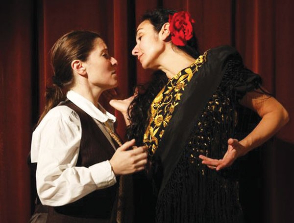 Raquel Winnica Young and Carolina Loyola-Garcia in Quantum Theatre's Ainadamar
