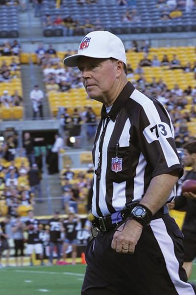 Replacement referee Craig Ochoa - PHOTO BY HEATHER MULL