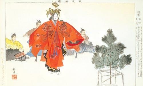 "Restoration nation: ""Hagoromo"" (1897-1901), a woodblock print by Tsukioka Kôgyo."