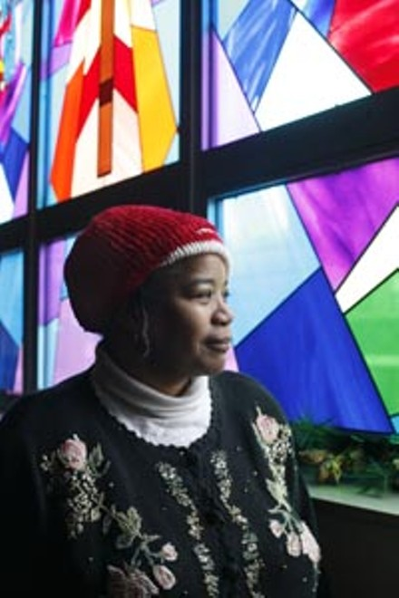 Rev. Leslie Boone uses gardening to reach Hazelwood's kids. - HEATHER MULL