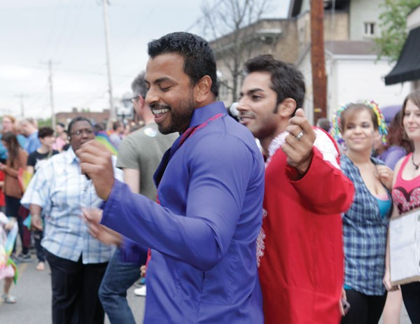 Revelers took to the streets of Shadyside May 20 for a rally to celebrate a federal judge's decision striking down Pennsylvania's Defense of Marriage act.