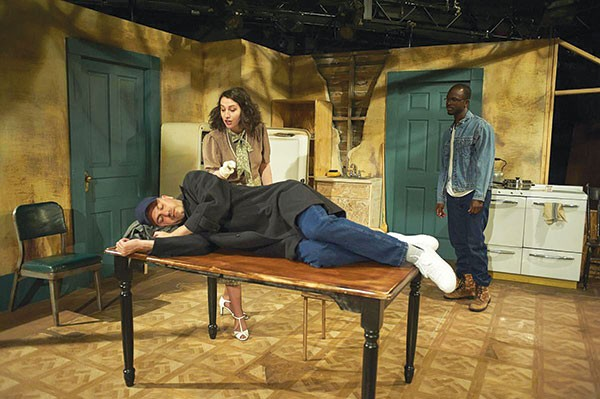 Ricardo Vila-Roger, Lucy Clabby and Chris Collier in University of Pittsburgh Stage