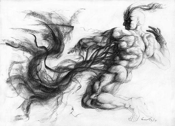 "Richard Claraval's ""Ignudo 17, Necromancer"""