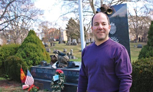 Richard Liberto, member of Troy Hill Citizens, Inc., at the Fireman's Memorial. - MAHSA BORHANI