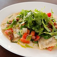 Sienna Sulla Piazza Ricotta and spinach agnolotti Photo by Heather Mull