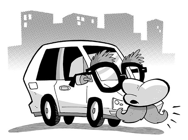 Ride share problems in Pittsburgh, Illustration, Pat Lewis