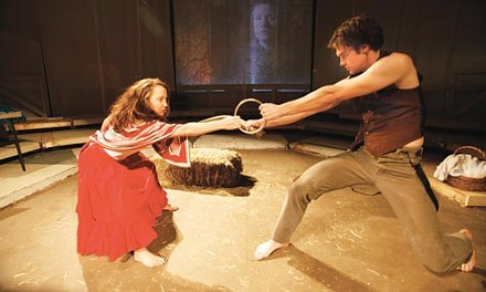 Ring me up: Laura Mixon and Jarid Faubel in Quantum's Yerma. - PHOTO COURTESY OF HEATHER MULL.