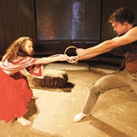 Ring me up: Laura Mixon and Jarid Faubel in Quantum's <i>Yerma</i>.