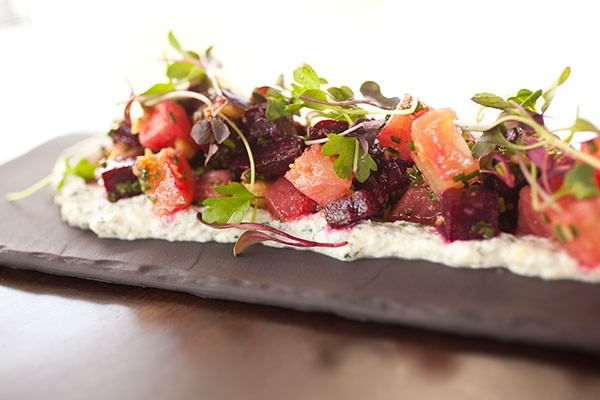 Roasted beet on herbed ricotta