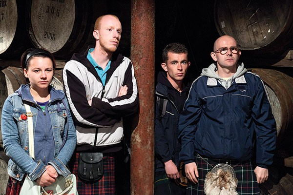 Robbie (third from left), distilling life lessons