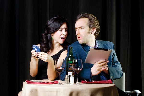 Robin Abramson and Gregory Johnstone in You Say Tomato, I Say Shut Up!, at CLO Cabaret.