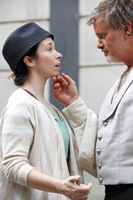 Robin Abramson and Mark Staley in Twelfth Night - PHOTO BY HEATHER MULL