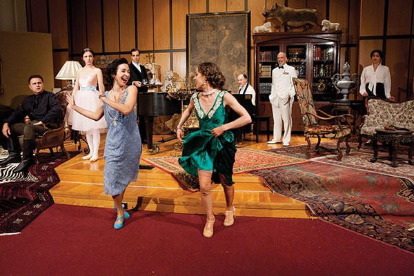 Robin Abramson and Megan MacKenzie Lawrence, cast of Quantum Theatre's Tamara