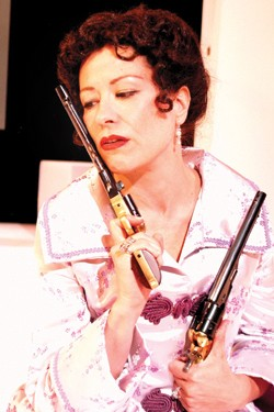 Robin Walsh plays the title character in Pittsburgh Irish & Classical Theatre's Hedda Gabler. - PHOTO: SUELLEN FITZSIMMONS