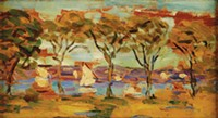 """""""Rockland Lake,"""" by Maurice Brazil Prendergast, from Odyssey at Frick Art & Historical Center. - COURTESY OF THE WARNER FOUNDATION ON DISPLAY AT THE WESTERVELT WARNER MUSEUM OF AMERICAN ART"""