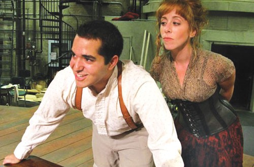 Rocky Paterra and Theo Allyn in Pitt's Sweeney Todd. - PHOTO COURTESY OF JOSH STOREY.