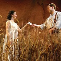 Romantically inclined: Robin Abramson and Braden Moran in <i>Mary's Wedding</i>, at City Theatre.