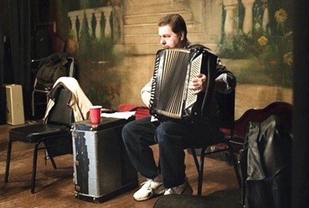 "Ross Mantle's ""Thomas Roncevic plays accordion for a Vecherinka dance, Homestead, Pennsylvania."""