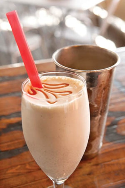 Salted-caramel milkshake - PHOTO BY HEATHER MULL