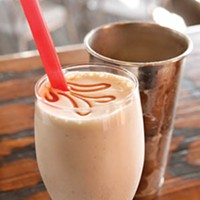 Salted-caramel milkshake