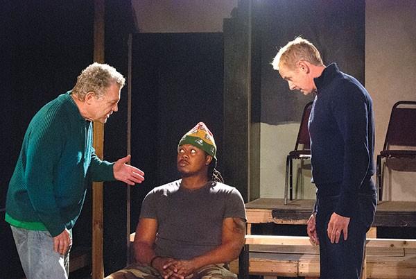 Sam Tsoutsouvas, Rico Parker and David Whalen in Blue/Orange