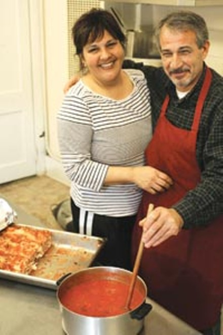 Saucy: Lisa and Franco Gualtieri, proprietors of Mateo's Pasta & Panino - HEATHER MULL