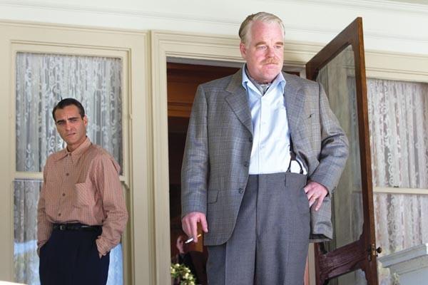 Seekers Joaquin Phoenix (left) and Philip Seymour Hoffman, in The Master