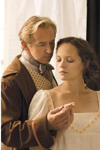 Semi-sweet Jane: David Whalen and Leah Curney in PICT's Pride & Prejudice. Photo courtesy of Richard Kelly.