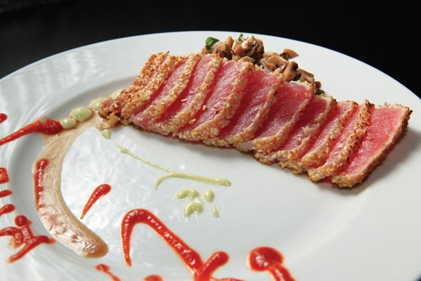 Sesame-crusted tuna