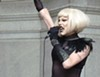 """Sharon needles performing outside City Council on """"Sharon Needles Day"""""""