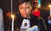 Shawntika Rice at a Nov. 30 vigil against gun violence in East Liberty