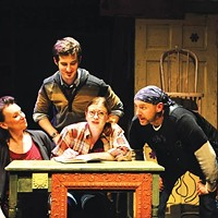 Sheila McKenna, Matt Dengler, Melinda Helfrich and David Whalen in <i>The Monster in the Hall</i>, at City Theatre