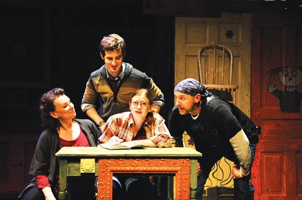 Sheila McKenna, Matt Dengler, Melinda Helfrich and David Whalen in The Monster in the Hall, at City Theatre