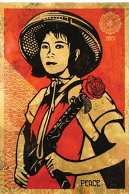 """Shepard Fairey's 2005 """"Obey Revolution Girl."""" - COURTESY OF OBEY GIANT ART"""