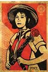 "Shepard Fairey's 2005 ""Obey Revolution Girl."""