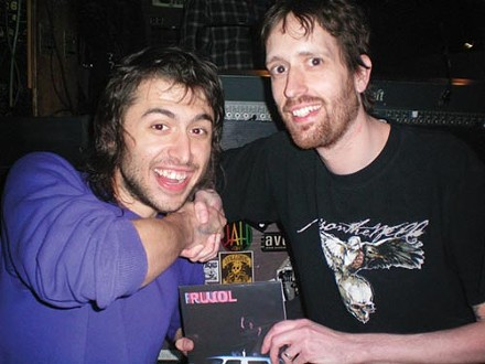 Single guy: Darren Little (right) with Daniel Pujol of Pujol
