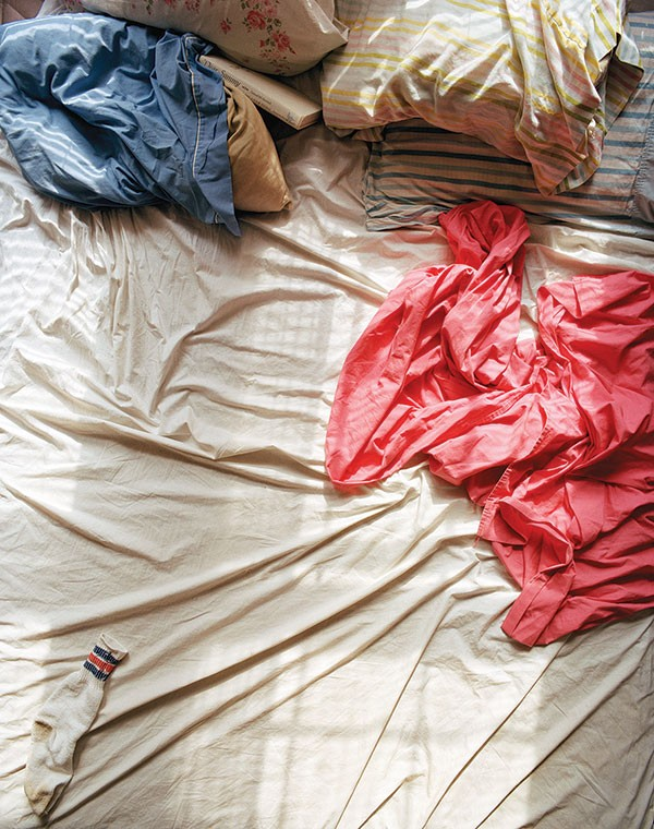 "Slumber company: part of Tammy Rae Carland's photo series ""Lesbian Beds"""