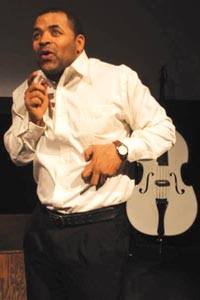 Soloing: Herb Newsome takes multiple roles in New Horizon's FreeMan in Paris.