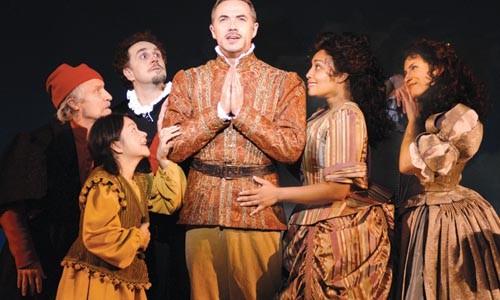Some of The Glorious Ones: from left, David Patrick Kelly, Julyana Soelistyo, John Kassir, Paul Schoeffler, Natalie Venetia Belcon and Jenny Powers